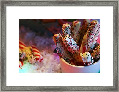Peppermint Yum Framed Print by Toni Hopper