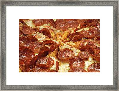 Pepperoni Pizza 1 Framed Print