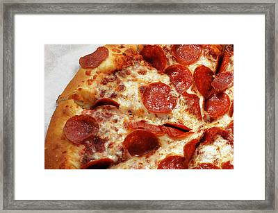 Pepperoni Pizza 2 - Pizzeria - Pizza Shoppe Framed Print by Andee Design