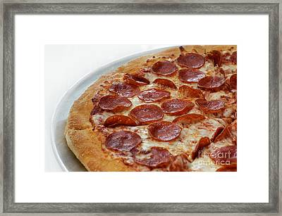 Pepperoni Pizza 3 - Pizzeria - Pizza Shoppe Framed Print by Andee Design