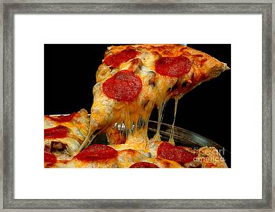 Pepperoni Pizza Slice Framed Print