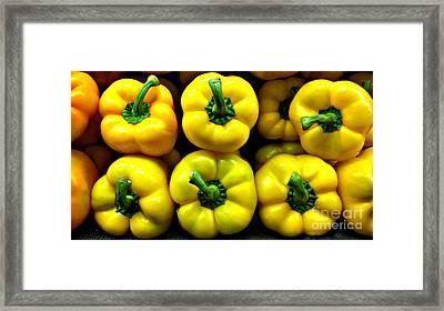 Peppers Framed Print by Addie Hocynec
