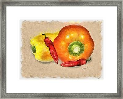 Peppers Framed Print by Anthony Caruso