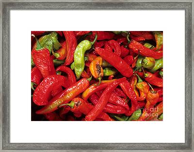 Peppers At Street Market Framed Print by William H. Mullins