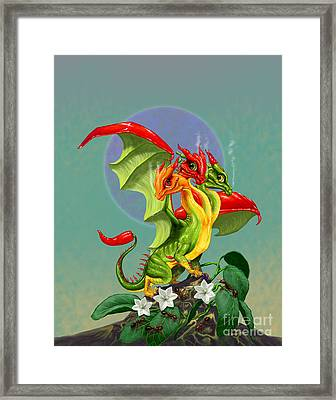 Peppers Dragon Framed Print by Stanley Morrison