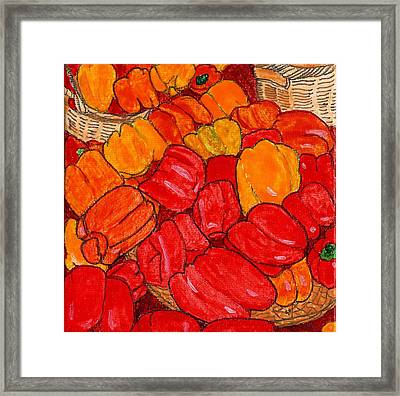 Peppers Galore Framed Print