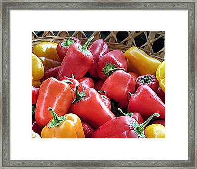 Peppers Framed Print by Janice Drew