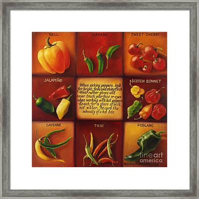 Pepper Facts  Framed Print