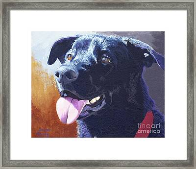 Pepper's Portrait Framed Print by Margaret Sarah Pardy