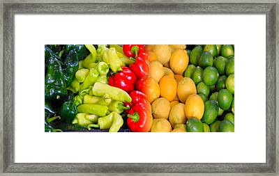 Peppers To Pucker Framed Print