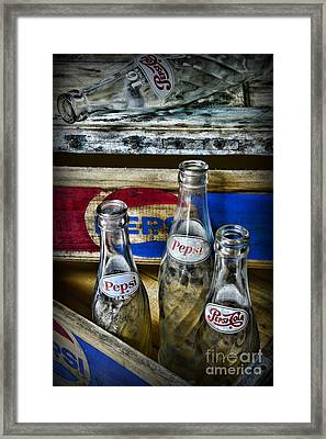 Pepsi Bottles And Crates Framed Print
