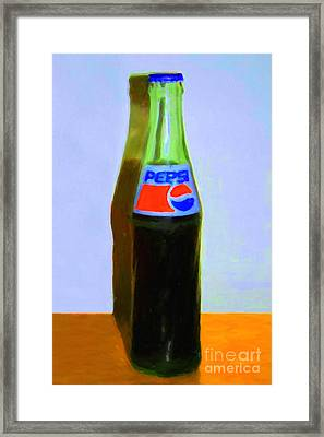 Pepsi Cola Bottle Framed Print by Wingsdomain Art and Photography