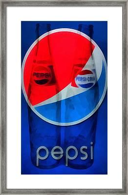 Pepsi Cola Framed Print by Dan Sproul
