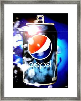 Pepsi Framed Print by Daniel Janda