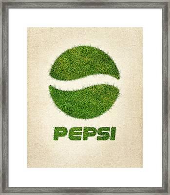 Pepsi Grass Logo Framed Print