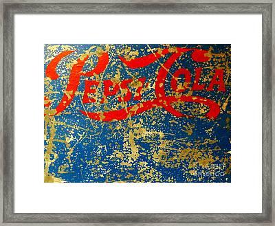 Pepsi Framed Print by Newel Hunter