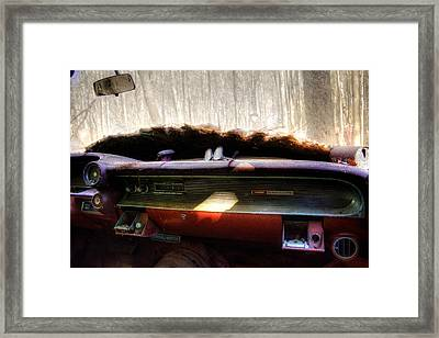 Pepsi Sunglasses And A Cadillac Framed Print by Greg Mimbs