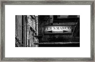 Per S. Marco Venice Framed Print by Colin Utz
