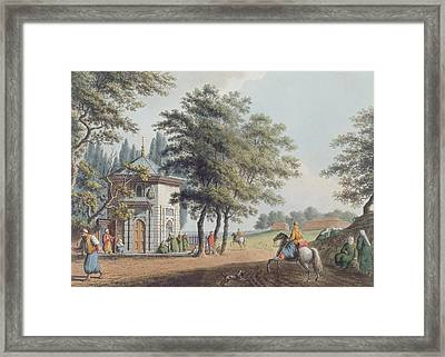 Pera, Plate 3 From Views In The Ottoman Framed Print by Luigi Mayer