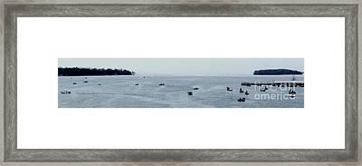 Perch Festival Fishing Derby Framed Print by Gail Matthews