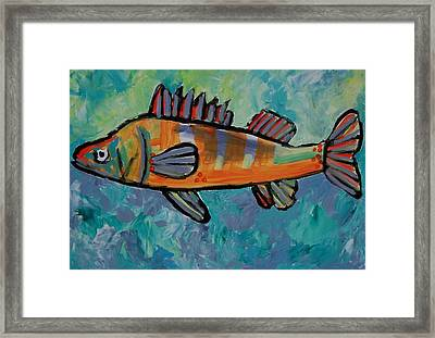 Perch Framed Print by Krista Ouellette