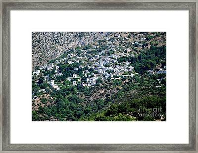 Perched Village Framed Print by Andrea Simon
