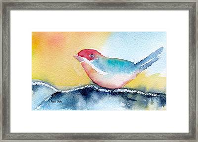 Framed Print featuring the painting Perching by Anne Duke