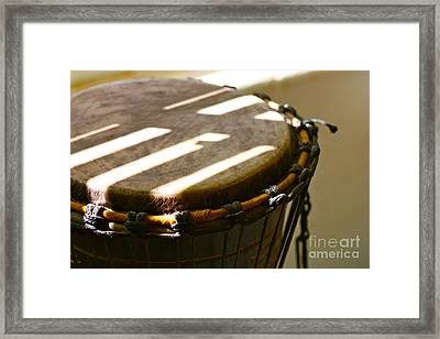 Percussion Light Framed Print by Cathy Dee Janes