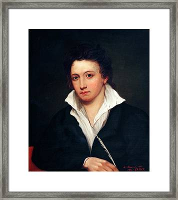 Percy Bysshe Shelley Framed Print by Bodleian Museum/oxford University Images