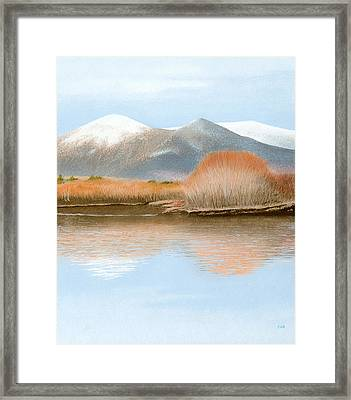 Percy Peaks Framed Print by Bruce Richardson
