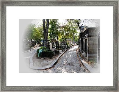 Pere Lachaise Cemetery Paris Framed Print by Jacqueline M Lewis