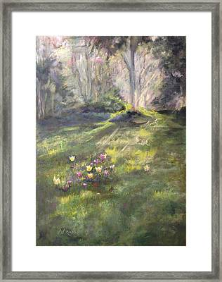 Pere Lachaise Spring Framed Print