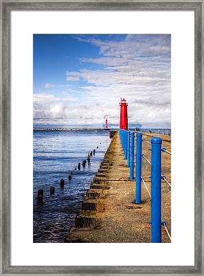 Pere Marquette Framed Print by Debra and Dave Vanderlaan