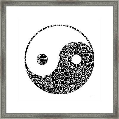 Perfect Balance 1 - Yin And Yang Stone Rock'd Art By Sharon Cummings Framed Print