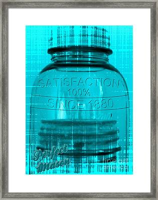 Perfect Ball Mason Jars -blue Framed Print by Margaret Newcomb