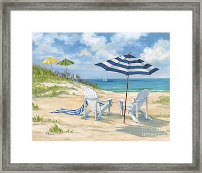 Perfect Beach Blue  Framed Print by Paul Brent
