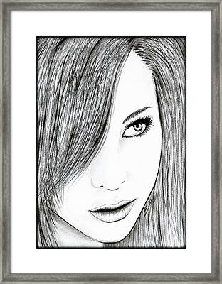 Perfect Beauty Framed Print by Saki Art
