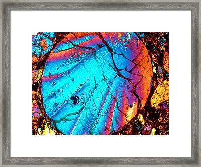 Perfect Chondrule 160x Framed Print by Tom Phillips