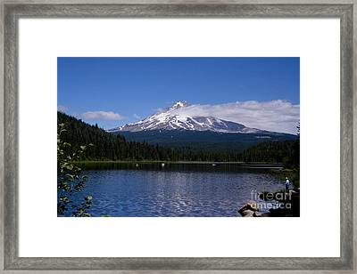 Perfect Day At Trillium Lake Framed Print by Ian Donley