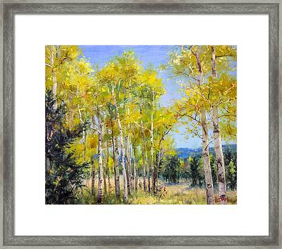 Perfect Day For A Hike Framed Print by Bill Inman