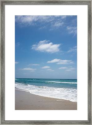 Perfect Day Pacific Beach Framed Print by Peter Tellone