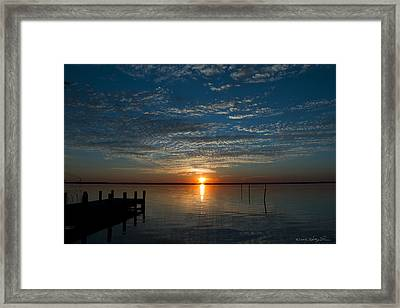 Perfect Ending Framed Print by Kathy Ponce