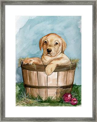 Framed Print featuring the painting Perfect Fit by Nancy Patterson