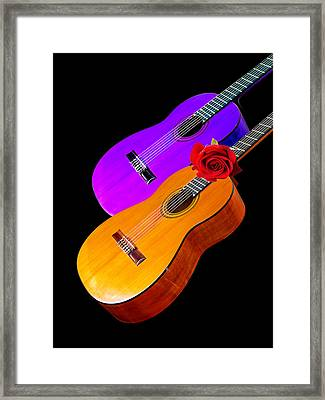 Perfect Harmony - Acoustic Guitars Framed Print