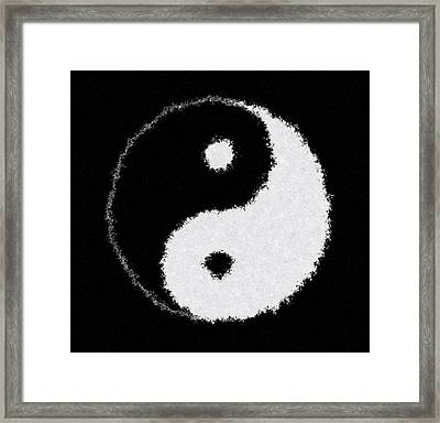 Perfect Imperfect Yin Yang Framed Print