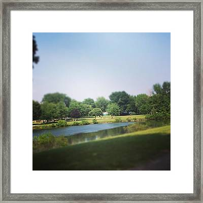 Perfect Park Afternoon Framed Print by Christy Beckwith