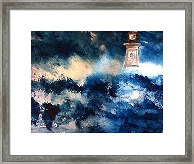 Perfect Storm Framed Print by Karen  Condron