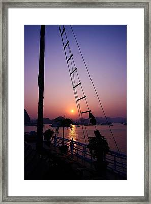 Perfect Sunset Framed Print by FireFlux Studios
