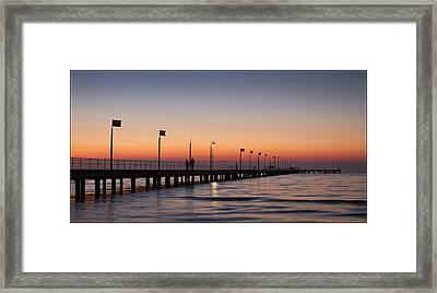 Framed Print featuring the photograph Perfect Sunset by Kim Andelkovic