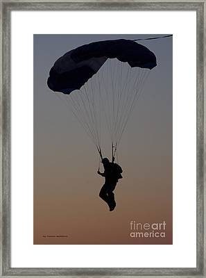 Perfect Sunset Landing Framed Print by Tannis  Baldwin